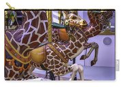 Colorful Giraffes Carrousel Carry-all Pouch