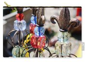 Colorful Glass And Metal Garden Ornaments Carry-all Pouch