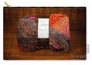 Colorful Knitting Yarn In A Wooden Box Carry-all Pouch