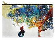Colorful Landscape Art - The Dreaming Tree - By Sharon Cummings Carry-all Pouch