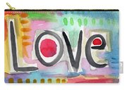 Colorful Love- Painting Carry-all Pouch by Linda Woods