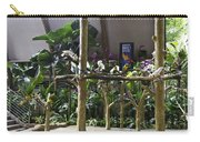 Colorful Macaws And Other Small Birds On Trees At An Exhibit Carry-all Pouch