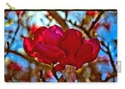 Colorful Magnolia Blossom Carry-all Pouch
