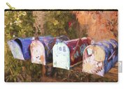 Colorful Mailboxes Santa Fe Painterly Effect Carry-all Pouch