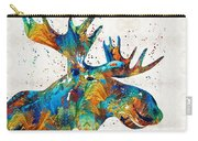 Colorful Moose Art - Confetti - By Sharon Cummings Carry-all Pouch