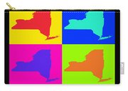 Colorful New York State Pop Art Map Carry-all Pouch