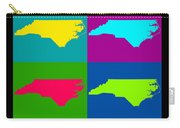 Colorful North Carolina Pop Art Map Carry-all Pouch