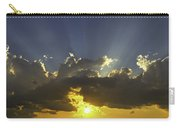Colorful Orange Yellow Clouds At Sunset Panorama Fine Art Print Carry-all Pouch