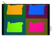Colorful Oregon Pop Art Map Carry-all Pouch