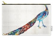 Colorful Peacock Art By Sharon Cummings Carry-all Pouch