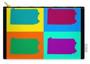 Colorful Pennsylvania Pop Art Map Carry-all Pouch
