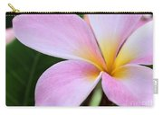 Colorful Pink Plumeria Flower Carry-all Pouch