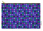 Colorful Polka Dots On Blue Fabric Background Carry-all Pouch
