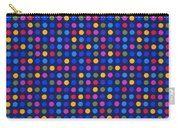 Colorful Polka Dots On Dark Blue Fabric Background Carry-all Pouch