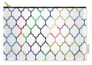 Colorful Quatrefoil Carry-all Pouch