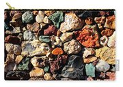 Colorful Rock Wall With Border Carry-all Pouch