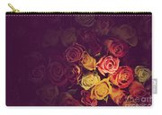 Colorful Roses Background Carry-all Pouch