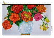 Colorful Roses Carry-all Pouch by Zina Stromberg