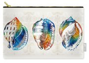 Colorful Seashell Art - Beach Trio - By Sharon Cummings Carry-all Pouch