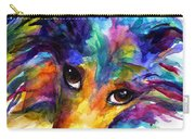 Colorful Sheltie Dog Portrait Carry-all Pouch
