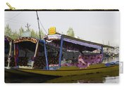 Colorful Shikaras Tied Up Next To The Dal Lake In Srinagar Carry-all Pouch