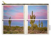Colorful Southwest Desert Window Art View Carry-all Pouch
