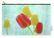 Colorful Spring Tulip Flowers Carry-all Pouch