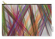Colorful Straight Line Fractal Flame Carry-all Pouch