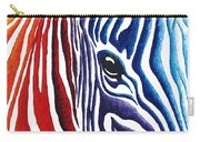 Colorful Stripes Original Zebra Painting By Madart Carry-all Pouch