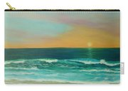 Colorful Sunset Beach Paintings Carry-all Pouch