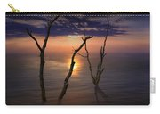 Colorful Sunset Seascape With Tree Trunks Carry-all Pouch