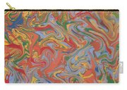 Colorful Swirls Drip Painting Carry-all Pouch