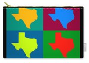 Colorful Texas Pop Art Map Carry-all Pouch