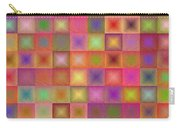 Colorful Textured Squares Carry-all Pouch