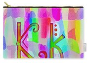 Colorful Texturized Alphabet Kk Carry-all Pouch