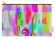 Colorful Texturized Alphabet Ll Carry-all Pouch