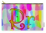 Colorful Texturized Alphabet Rr Carry-all Pouch