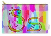 Colorful Texturized Alphabet Ss Carry-all Pouch