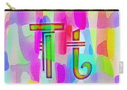 Colorful Texturized Alphabet Tt Carry-all Pouch