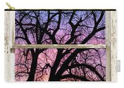 Colorful Tree White Farm House Window Portrait View Carry-all Pouch