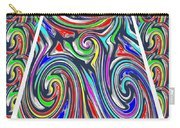 Colorful Twirl Wave Shield Design Background Designs  And Color Tones N Color Shades Available For D Carry-all Pouch
