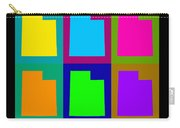Colorful Utah State Pop Art Map Carry-all Pouch