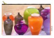 Colorful Vases I - Still Life Carry-all Pouch