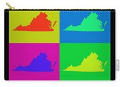 Colorful Virginia State Pop Art Map Carry-all Pouch