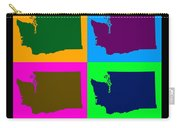 Colorful Washington State Pop Art Map Carry-all Pouch