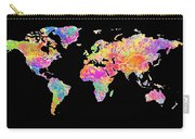Colorful Watercolor World Map Carry-all Pouch