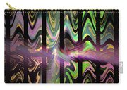 Colorful Waves And Stripes Fractal Art Carry-all Pouch