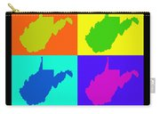 Colorful West Virginia Pop Art Map Carry-all Pouch