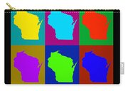 Colorful Wisconsin Pop Art Map Carry-all Pouch