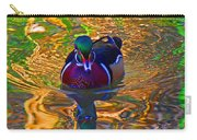 Colorful World Of Wood Duck Carry-all Pouch